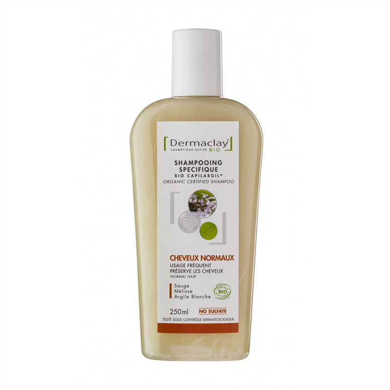 Shampooing BIO Cheveux Normaux Usage Fréquent - 250 ml - DERMACLAY