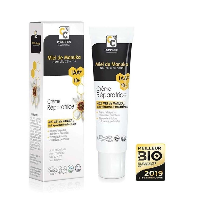 Crème réparatrice Bio 40 % miel de manuka IAA10+ - 40 ml - COMPTOIRS&COMPAGNIES