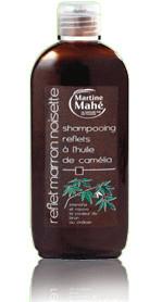 Shampooing reflets huile camélia - marron noisette - 200 ml - MARTINE MAHE