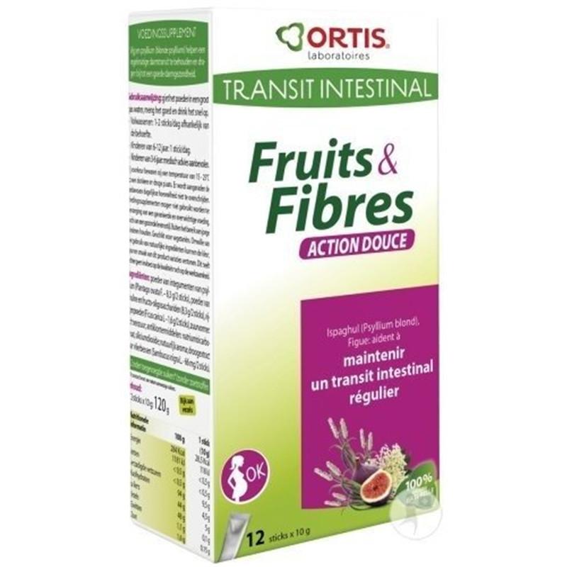 Fruits & fibres action douce (femmes enceintes) - 12x10g - ORTIS
