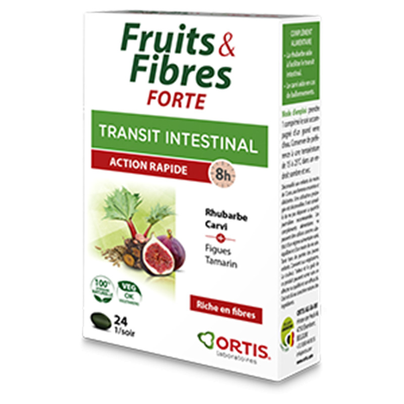 Fruits & fibres forte - 24 comprimés - ORTIS