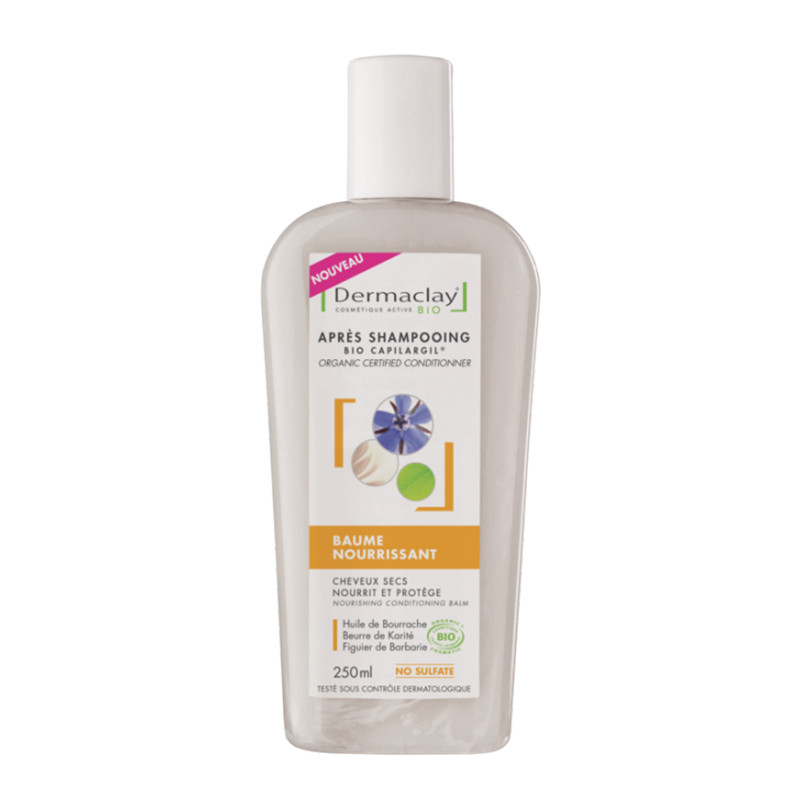 Baume nourrissant BIO après-shampooing - 250 ml - DERMACLAY