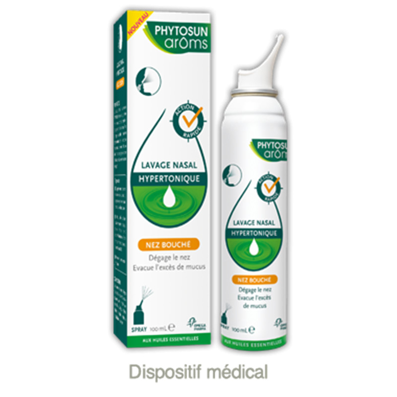 Lavage nasal hypertonique - 100 ml - PHYTOSUN AROMS