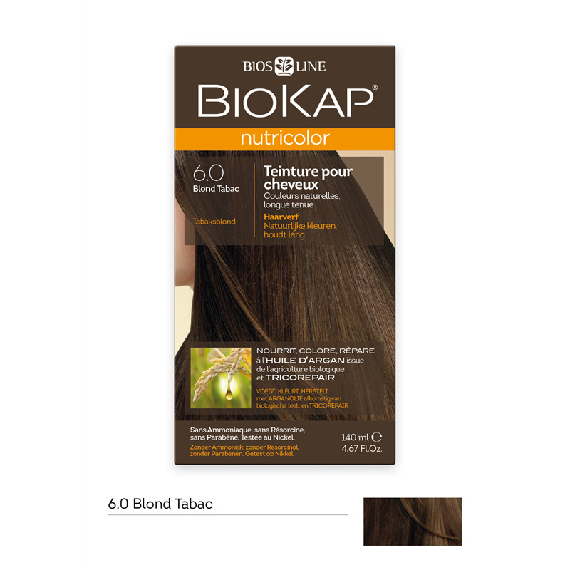 Blond tabac 6.0 - 140 ml - NUTRICOLOR - BIOKAP