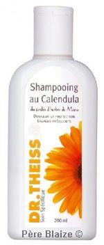 Shampooing au calendula - 200 ml - JARDIN D'HERBES DE MARIA - DR THEISS