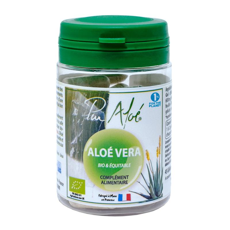 Complément alimentaire 45 gélules bio aloé vera - 45 gél - PUR ALOE