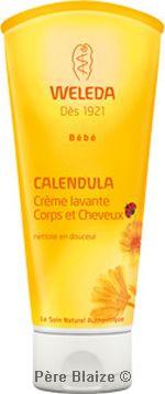Duo crème Lavante corps et cheveux bébé au calendula- - 2 x 200 ml - WELEDA
