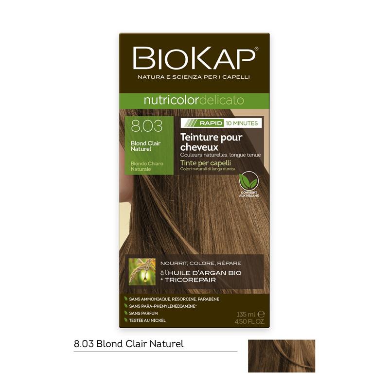 Nutricolor delicato rapid - 8.03 blond clair naturel - 135 ml - BIOKAP