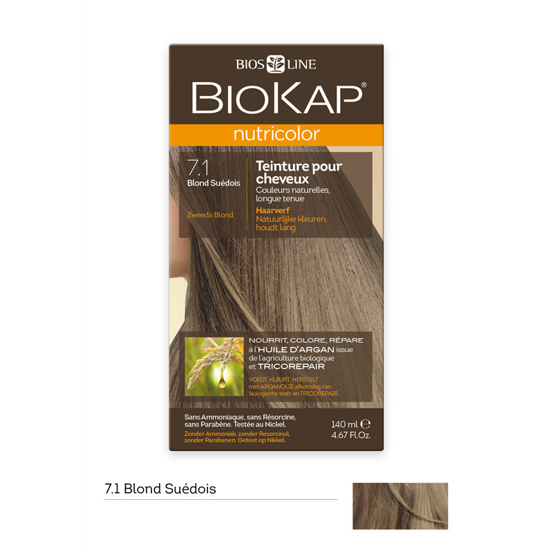 Nutricolor - Blond suédois 7.1 - 140 ml - BIOKAP