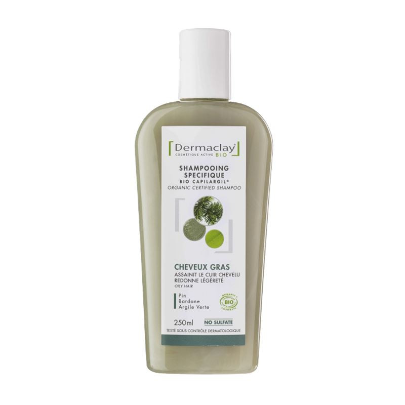 Shampooing BIO cheveux gras - 250 ml - DERMACLAY