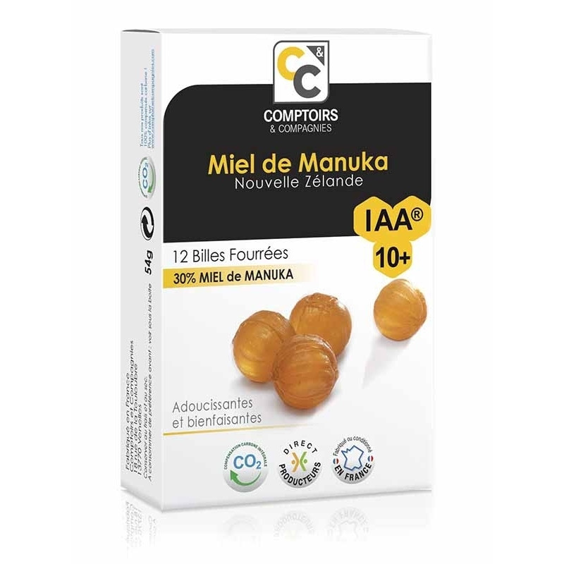 Billes fourrées miel de manuka IAA10+ - 54 g - COMPTOIRS&COMPAGNIES