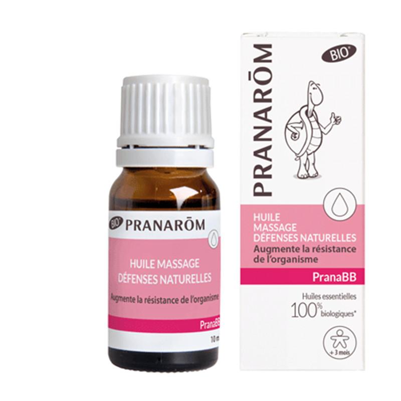 Huile de massage Bio - Défenses naturelles - 10 ml - PRANAROM