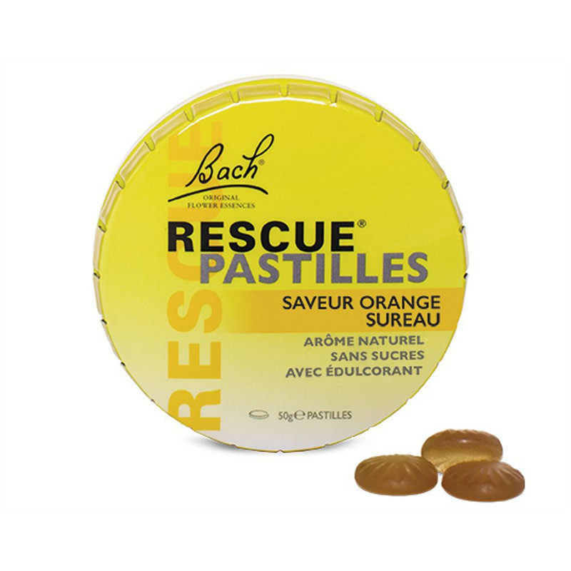 Pastilles orange et sureau - 50 g - RESCUE - NELSONS