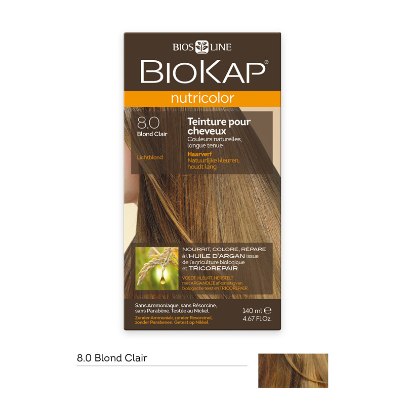 Nutricolor - Blond clair 8.0 - 140 ml - BIOKAP