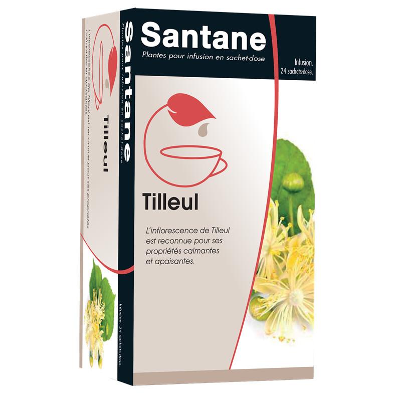 Tisane tilleul - 24 sachets (1,3 g - sd) - SANTANE - IPHYM