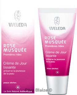 Crème de jour lissante rose musquée - 30 ml - WELEDA