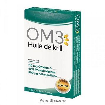 OM3 huile de krill - 30 capsules - LABORATOIRES SUPERDIET