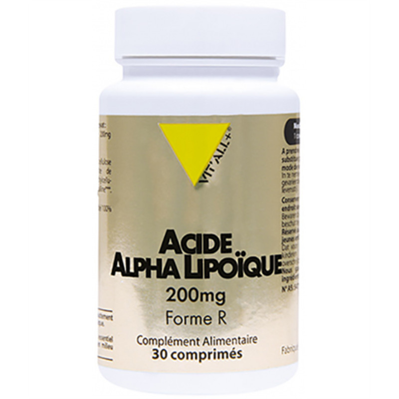 Acide Alpha Lipoïque forme R 200mg - 30 comp - VIT'ALL +