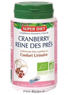 Cranberry - reine des pres BIO - 90 gél - LABORATOIRES SUPERDIET