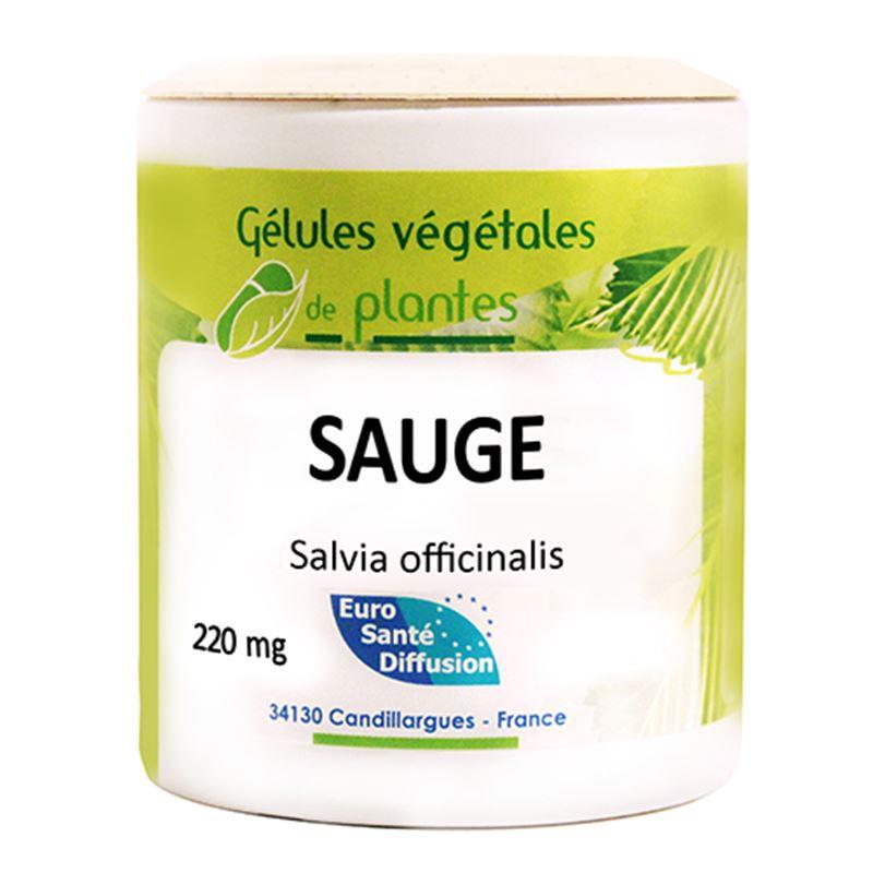Gelules Sauge - 60 gel - PHYTOFRANCE - EURO SANTÉ DIFFUSION