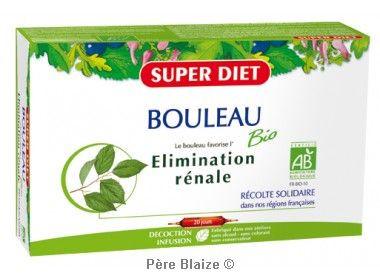 Bouleau BIO - 20 ampoules x 15ml - LABORATOIRES SUPERDIET