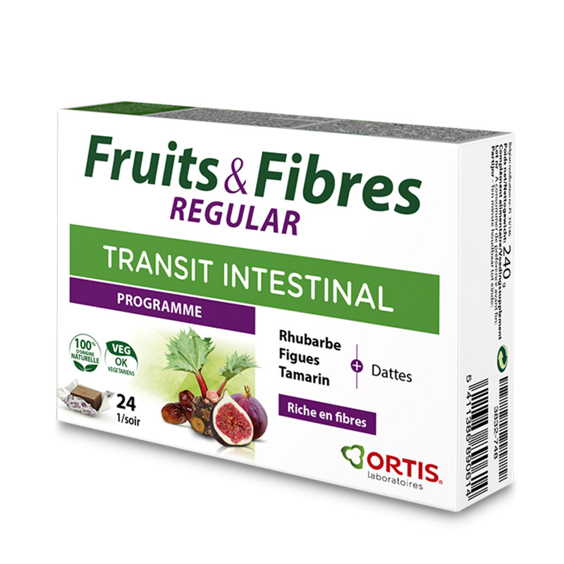 Fruits & fibres regular - 24 cubes - ORTIS