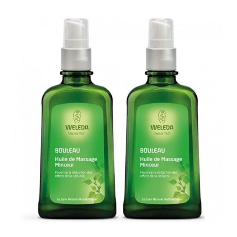 Huile de massage minceur aux extraits de Bouleau duo - 2 x 100 ml - WELEDA