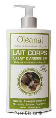Lait corps au Lait d'anesse parfum hypoallergenique - 250 ml - OLEANAT