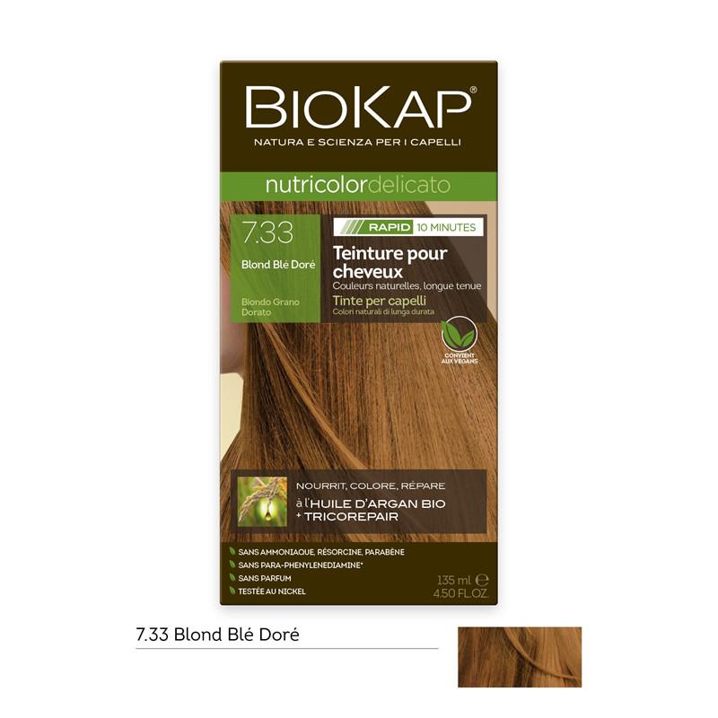Nutricolor delicato rapid - 7.33 blond blé doré - 135 ml - BIOKAP