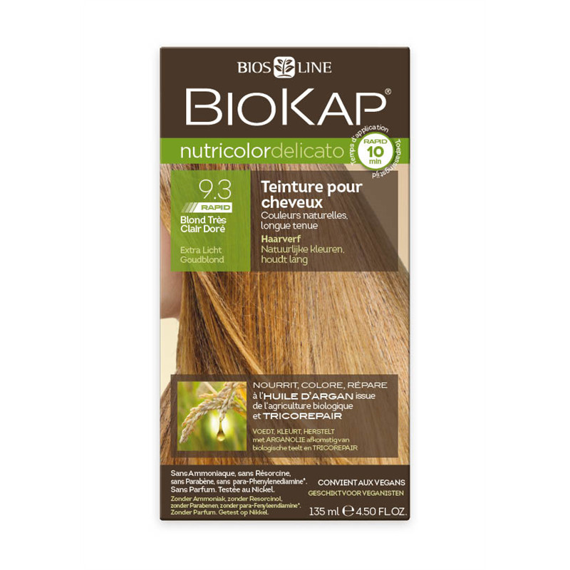 Nutricolor delicato rapid - 9.30 blond tres clair dore - 135 ml - BIOKAP