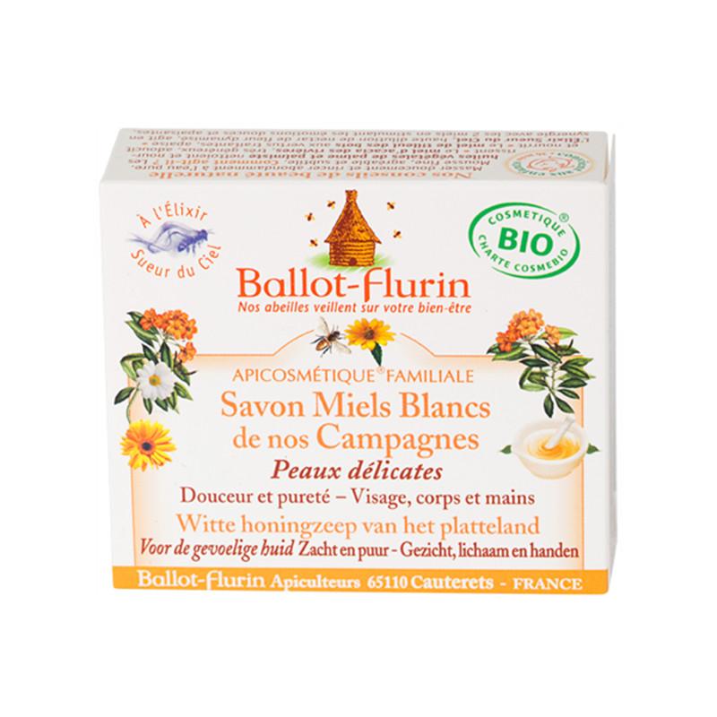 Savon Miels Blancs de nos Campagnes - 100 g - BALLOT-FLURIN