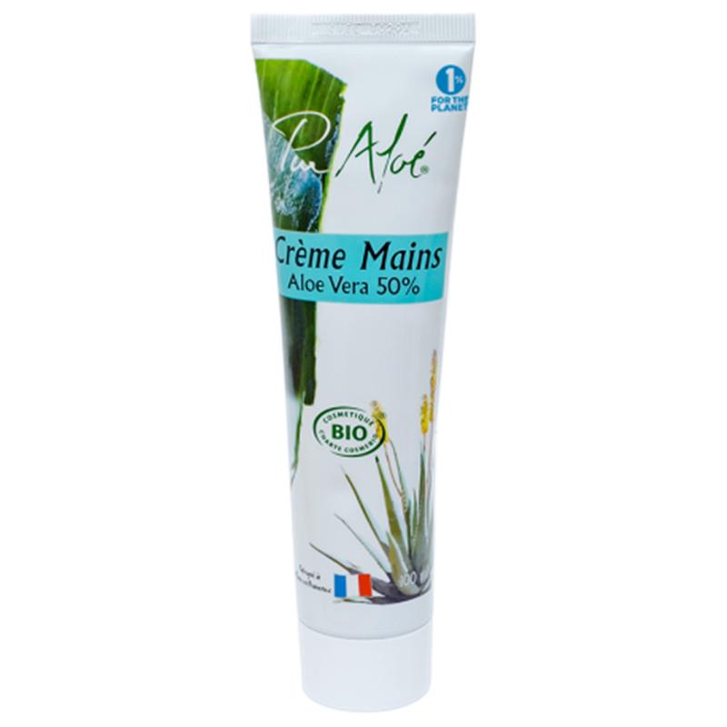 Crème mains bio à l'aloé véra 50% - tube 100 ml - PUR ALOE