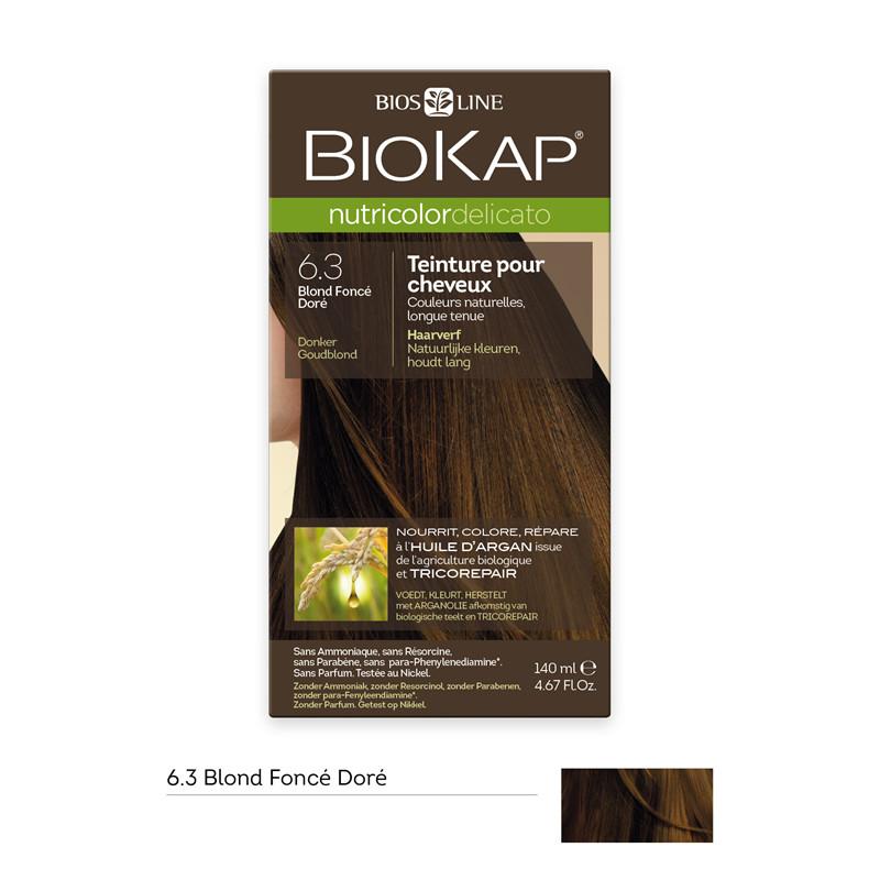Nutricolor delicato - blond foncé doré 6.30 - 140 ml - BIOKAP