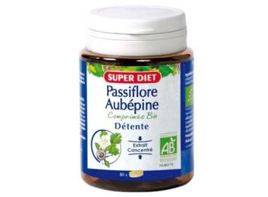 Passiflore - aubepine BIO - 80 comprimés - LABORATOIRES SUPERDIET