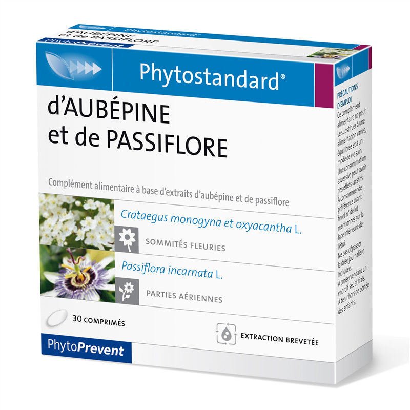 Aubepine passiflore - 30 comprimés - PHYTOSTANDARD - LABORATOIRE PILEJE
