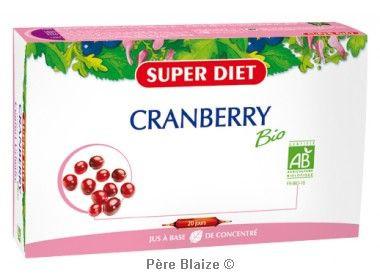 Cranberry (canneberge) BIO - 20 ampoules x 15 ml - LABORATOIRES SUPERDIET