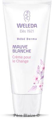 Crème pour le change bébé à la mauve blanche - 50 ml - WELEDA
