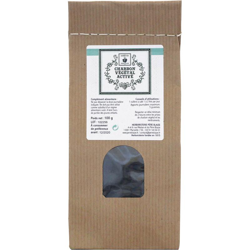 Charbon végétal activé - poudre - 100 g - Père Blaize