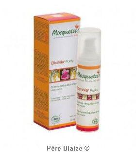 Crème réequilibrante purity peaux mixtes et impures - 50ml - KOSMEO MOSQUETA'S
