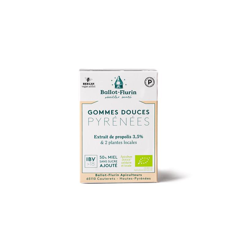 Gommes douces des Pyrenees Bio - boite 30 g - BALLOT-FLURIN