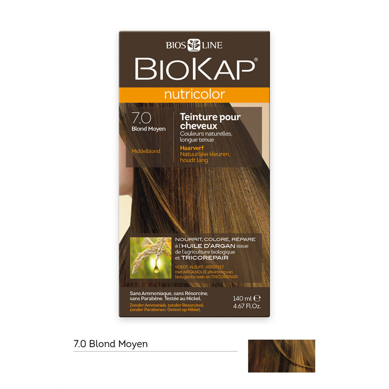 Nutricolor - Blond moyen 7.0 - 140 ml - BIOKAP