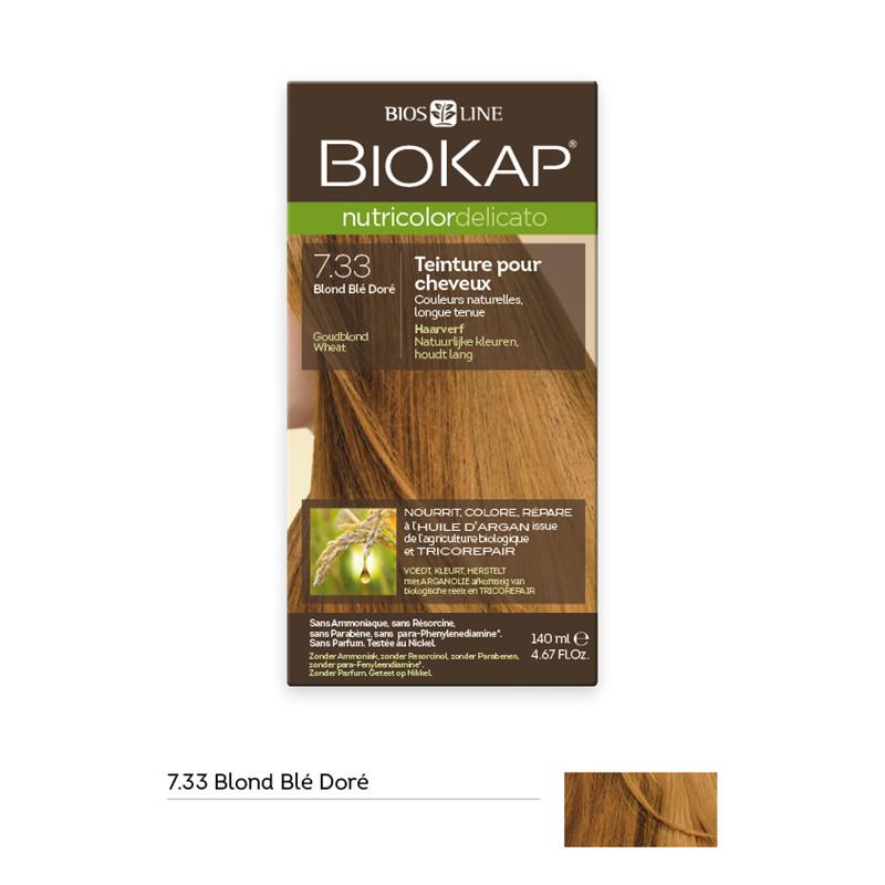 Nutricolor delicato - blond blé doré 7.33 - 140 ml - BIOKAP