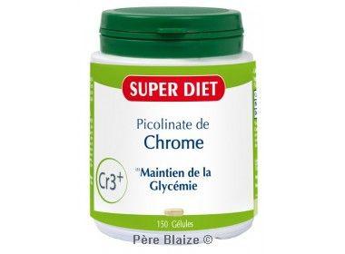Picolinate de chrome - 150 gél - LABORATOIRES SUPERDIET