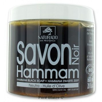 Savon noir Hammam neutre - 600 g - NATURADO EN PROVENCE