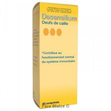 Desensilium- œufs de caille - 60 comprimés - DESENSILIUM