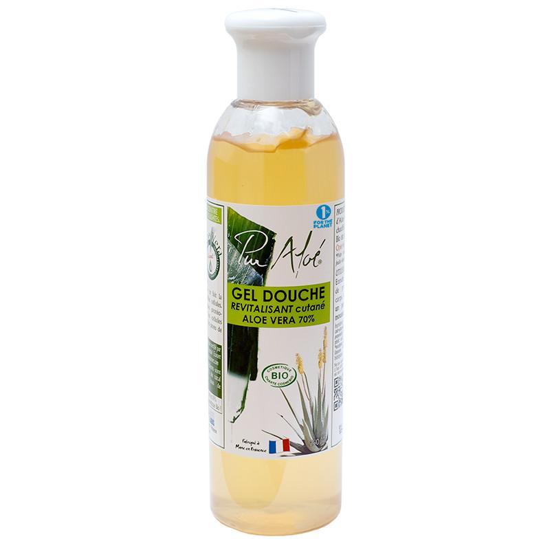 Gel douche bio a l'aolé vera 70% sans sulfates flacon - 250 ml - PUR ALOE