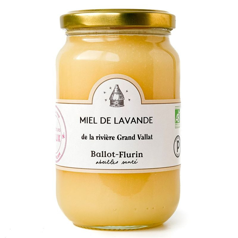 Miel de Lavande Bio de la rivière Grand Vallat - pot de 480 g - BALLOT-FLURIN