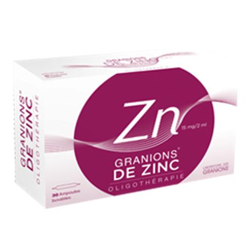 Granions de zinc - 30 amp - LABORATOIRES DES GRANIONS