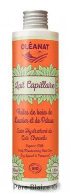 Lait capillaire apaisant au Laurier et pataua - 200 ml - OLEANAT