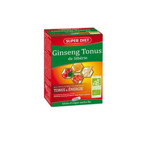 Ginseng tonus de sibÉrie BIO (acérola, ginseng, gélée royale, guarana) - 60 gél - LABORATOIRES SUPERDIET